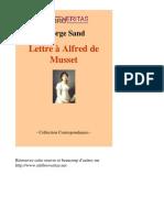 1930-GEORGE SAND-Lettre a Alfred de Musset-[InLibroVeritas.net]