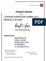 Creating Distribution Channel Of A financial Software