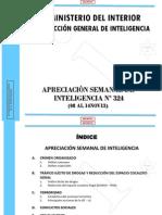 Mininter - Aprec. Sem. Intelig. 324 Del 08 Al 14nov13
