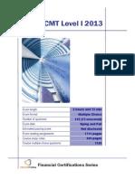 CMT Level I 2013 Summary