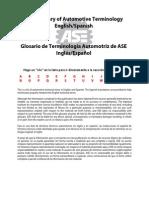 Glosario de Terminología Automotriz de ASE InglésEspañolGlosario de Terminología Automotriz de ASE InglésEspañol