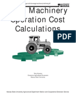 Farm Machinery Operation Cost Calculations