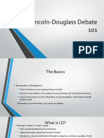 Lincoln-Douglass Debate 101