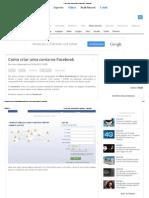 Como Criar Uma Conta No Facebook - Facebook