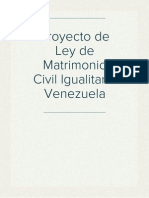 Proyecto de Ley de Matrimonio Civil Igualitario Venezuela