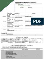 Cronograma Sep 2013 - Feb 2014