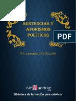 Castellani, p. Leonardo -Sentencias y Aforismos Politicos
