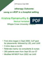 Whipps Cross Dermatology Clinic MYMOP Data - Alex Laird