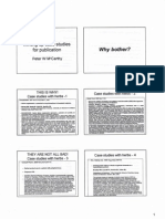 Writing Up Case Studies for Publication - Peter McCarthy