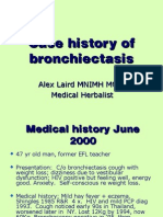 Case History - Bronchiectasis - Alex Laird