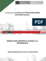 """Presentación- """"Transparencia y Acceso a la información pública del Estado Peruano"""