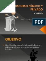 4ºM_DISCURSO PÙBLICO Y PRIVADO_Prof. Yadia