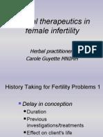 Herbal Therapeutics in Female Infertility - Carol Guyette