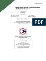 Evaluation of Geotechnical Design Parameters Using the Seismic Piezocone (FHWA-NJ-2001-032)