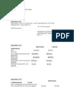 Assigment 4(Job Order Costing)