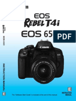 Canon t4i Manual