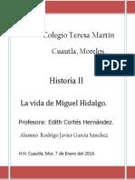 Vida de Hidalgo