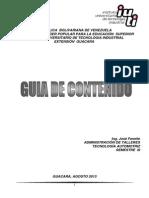 GUÍA DE CONTENIDO ADM. DE TALLERES CON PORTADA I I - 2013
