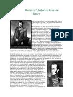 El Gran Mariscal Antonio José de Sucre