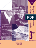 """""""LA CIENCIA DE LAS TRANSFORMACIONES DE LA MATERIA"""""""