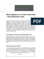 What Happens at a Crown Court Trial the Prosecution Case