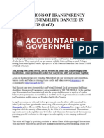 While Visions of Transparency and Accountability Danced in Their Heads 1of3