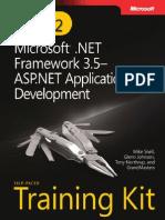 eBook ASPNET Web Application Development Training Kit 70 562