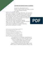 Poemas de Refleccion de Hugo Almanza
