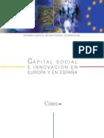 Informe Cotec Capital Social e Innovación en Europa y en España (Diciembre 2013)