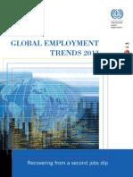 Tendencias Mundiales Empleo - 2013 - OIT (Inglés)