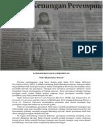 Literasi Keuangan Perempuan (Opini, Jawa Pos, 28 Desember 2013, Hlm. 4)