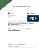T-REC-M.3210.1-TMN services for IMT 2000[1]