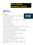 Father's For Fire Safety - Fire Chiefs Presentation Notes