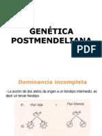 clase de genética postmendeliana