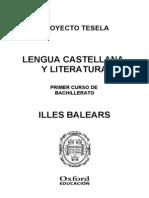 Programacion Tesela Lengua y Literatura 1 BACH Illes Balears