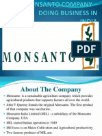 MONSANTO COMPANY – DOING BUSINESS IN INDIA (2)