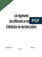 f117108688 Cours - Recours Marches Publics