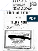 Order of Battle of the Italian Army