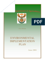 Environmental Implementation Plan for National Dept. of Agriculture