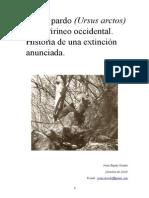 El oso pardo en el Pirineo Occidental, historia de una extinción