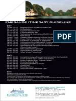 Emeraude Classic Cruises' Updated Itinerary Guidelines in December 2013