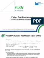 Project Cost Management Formulae