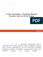 N. Peter Kostopulos- A Proficient Business Executive and Law Firm Partner