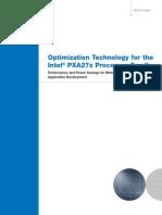 Intel Optimization of PXA27x