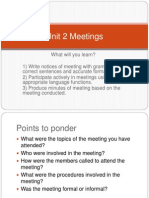 Lecture 2 Meetings