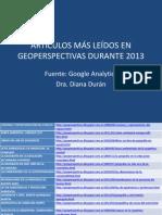 ARTÍCULOS DE GEOPERSPECTIVAS 2013