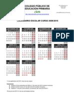Calendario escolar 2009-2010
