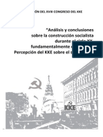 Resolucion 18o Congreso - Socialismo