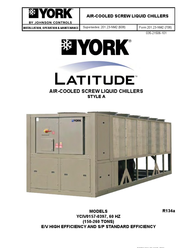 yciv iom 60hz 201 23 nm2 electrical wiring electricity rh scribd com york yciv service manual york chiller yciv service manual