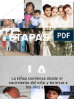 Niñez y adolescencia PRESENTACION ETAPAS DE LA VIDA DEL SER HUMANO